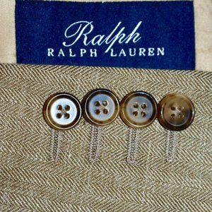 NWT 46L Lauren Ralph Lauren SILK Tan BLAZER